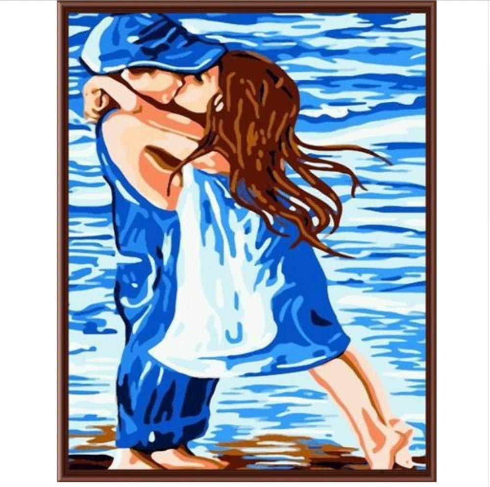 CZYYOU Bilder An Der Wand Malen Nach Zahlen Dekorative Bilder Handgemalte Leinwand Malen Nach Zahlen 40x50cm -Rahmenlos B07P5RMPM7 | Attraktive Mode