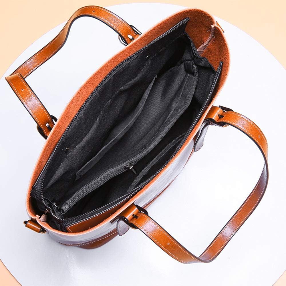 Xiaochou@sl Neue Art- und Weiseeinfache Multifunktionsgroße Kapazitäts-Umhängetasche Schulter Slung Lederhandtasche Größe: 31 * 14 * 30cm (Farbe : Purple) Brown
