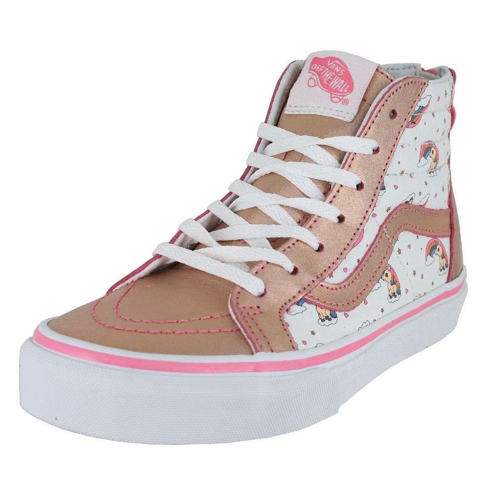 408fb1e056 Galleon - Vans Kids K SK8-HI Zip Unicorn Rainbow Pink Lemonade True White  Size 3