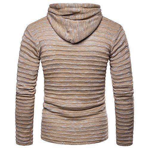 Con maglione Slim Alto Cappotti Cachi Manica Cappotto Luoluoluo A Giacche Invernale Maglia Uomo Parka Uomo Capispalla Lunga Collo Invernali Casual In fit CPCvqO