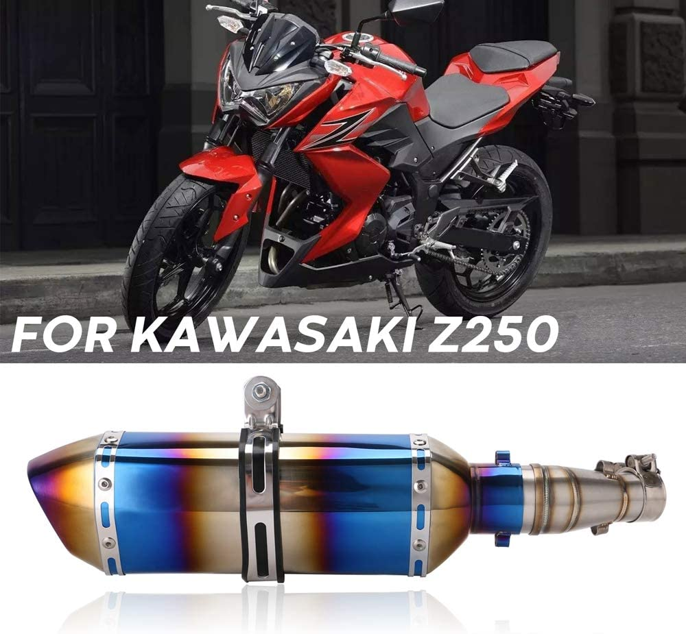 Motorcycle Slip on Exhaust System with Muffler Fit for Kawasaki 250 Ninja 250R 300 2008-2017