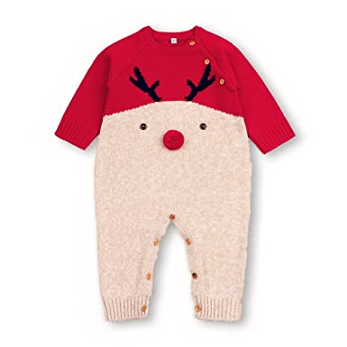 1401368da mimixiong Baby Sweater Romper Christmas Jumpsuits Knitted Red ...
