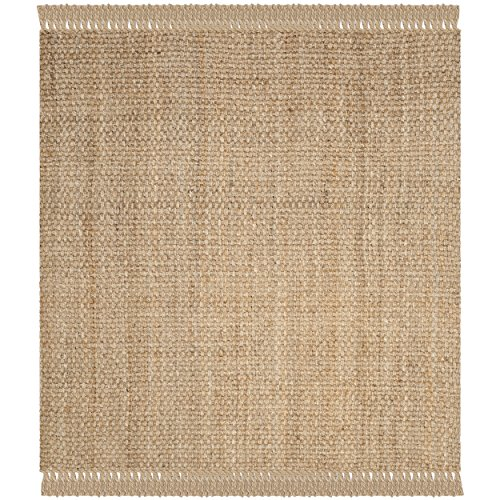 Safavieh Natural Fiber Collection NF467A Natural Square Area Rug, 8' Square