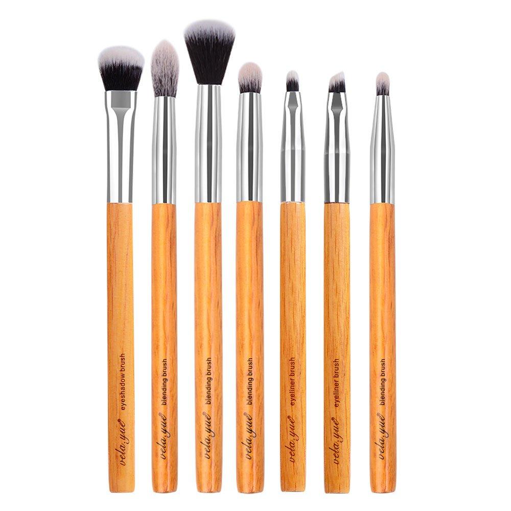 vela.yue Premium Eyes Makeup Brushes Set 7 pieces Blending Shadow Smudge Contour Eyeliner Eyebrow Makeup Tools Kit (400 7 Pieces Brushes Set) YF