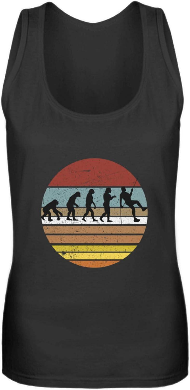 Camiseta de Tirantes para Mujer con evolución genérica de Escalada y Escalada