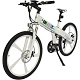 E-go White New Electric Bike Matt Electric Bicycle Mountain 500w Lithium Battery City Ebike