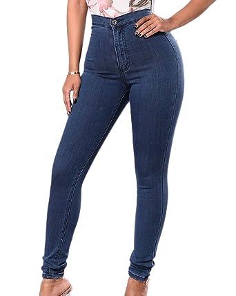 Vaqueros Mujer Elásticos Skinny Jeans Pantalones Push Up ...