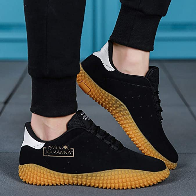 Street Shoes Men KKGG Sport Fashion Breathable Light Shoe Comfortable Casual Lace-Up Flat Student Sneakers Outdoor Mesh Non-Slip Leisure Running Footwear for Athletic Walking Hiking Jogging