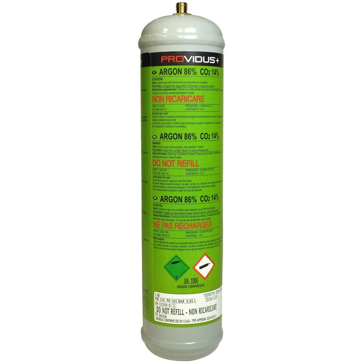 Paquete de 3 botella de Argón + dióxido de carbono, 110 Bar, desechables - Contenido de 950 ml - botella de gas para soldadura Semiautomática: Amazon.es: ...