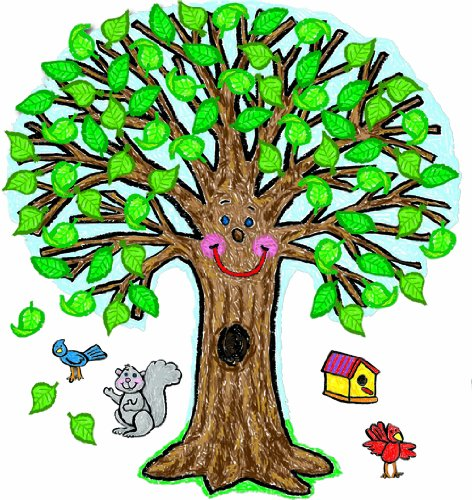 Carson Dellosa Big Tree: Kid-Drawn Bulletin Board Set (3257)