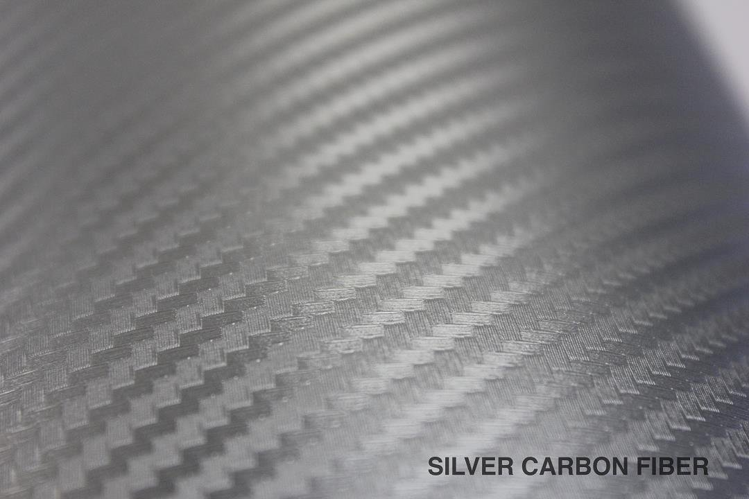 3ft x 5ft VViViD XPO Sterling Silver 3D Carbon Fiber Vinyl Wrap Roll with Air Release Technology