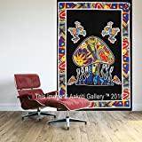 Tapestry Single Black Mushroom Tapestries Wall Hanging Art Decor Mandala Hippie Dorm 84X55 inches AAKRITI GALLERY …