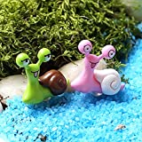 BronaGrand 10pcs Garden Ornament Miniature Snail