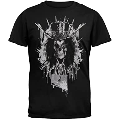 Old Glory Alice Cooper Top Hat Skull Hazmat Crew T Shirt Amazon