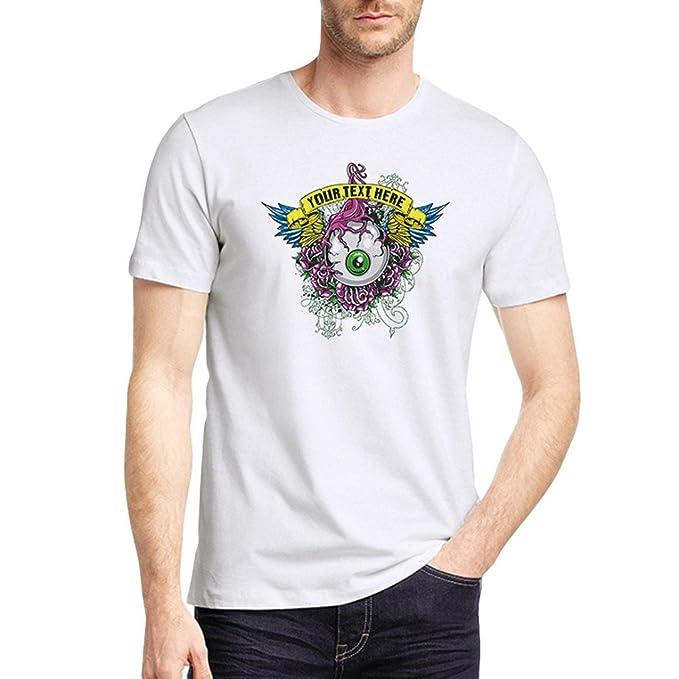 Camisetas Blancas con Estampado Personalidad Hombre LHWY,Camisetas De Cuello Redondo Casuales Blusa Suelto Manga