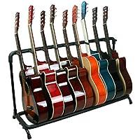 Soporte Electrica Universal Guitarra Stand: 9 Acústica Eléctricas Guitar Guitarras Rack Plegable Bajos Electricos Base…