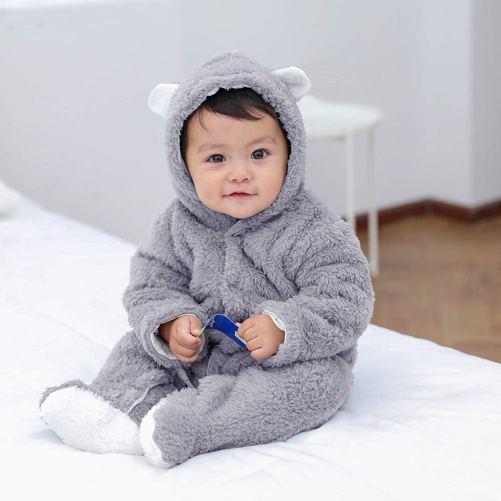 Blivener Unisex Baby Cloth Winter Rompers Coats Cute Newborn Infant Jumpsuit Snowsuit Bodysuits