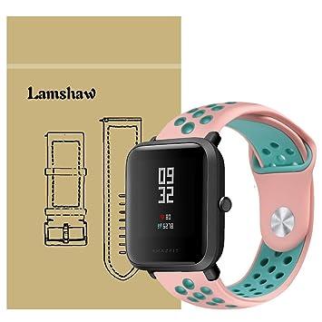 Ceston Deporte Silicona Clásico Correas para Xiaomi Amazfit Bip (Rosa + Verde): Amazon.es: Electrónica