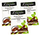 Serra Le Italiane, Italian Natural Hard Candy Filled With Licorice from Calabria Italy, 3.5 oz (Pack of 3)