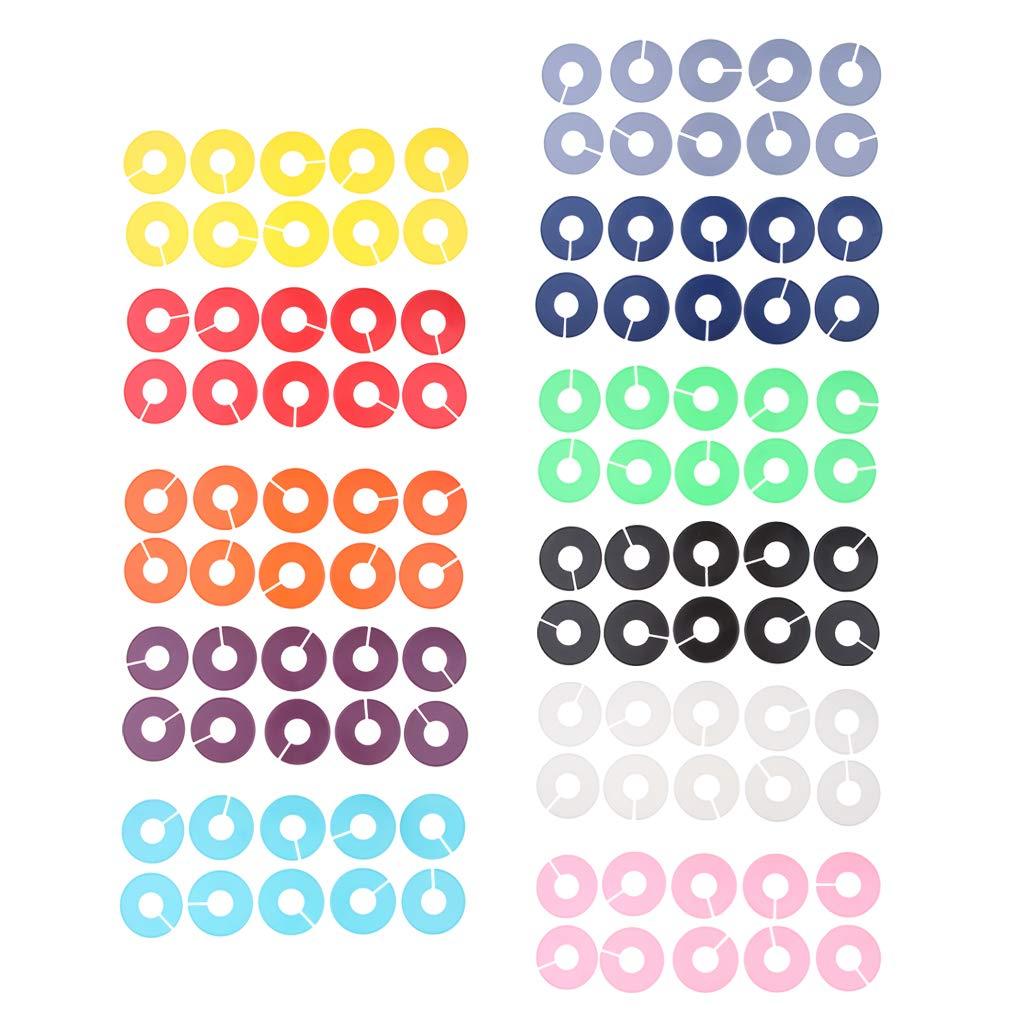 H HILABEE 110er-Set Der Gr/ö/ßenfinder Kleidung Gr/ö/ßenscheiben Gr/ö/ßenreiter Gr/ö/ßentrenner f/ür Gr/ö/ßenkennzeichnung auf Kleiderstangen