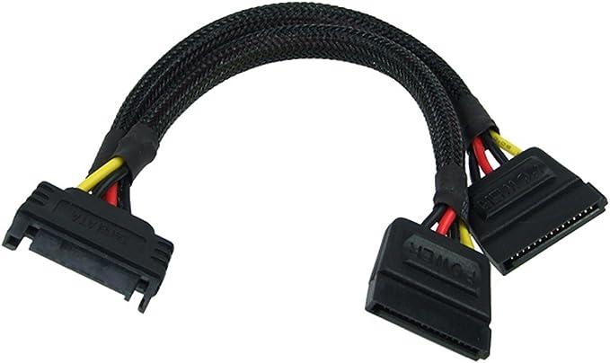 Phobya Sata Splitter Cable 15cm Black Computers Accessories