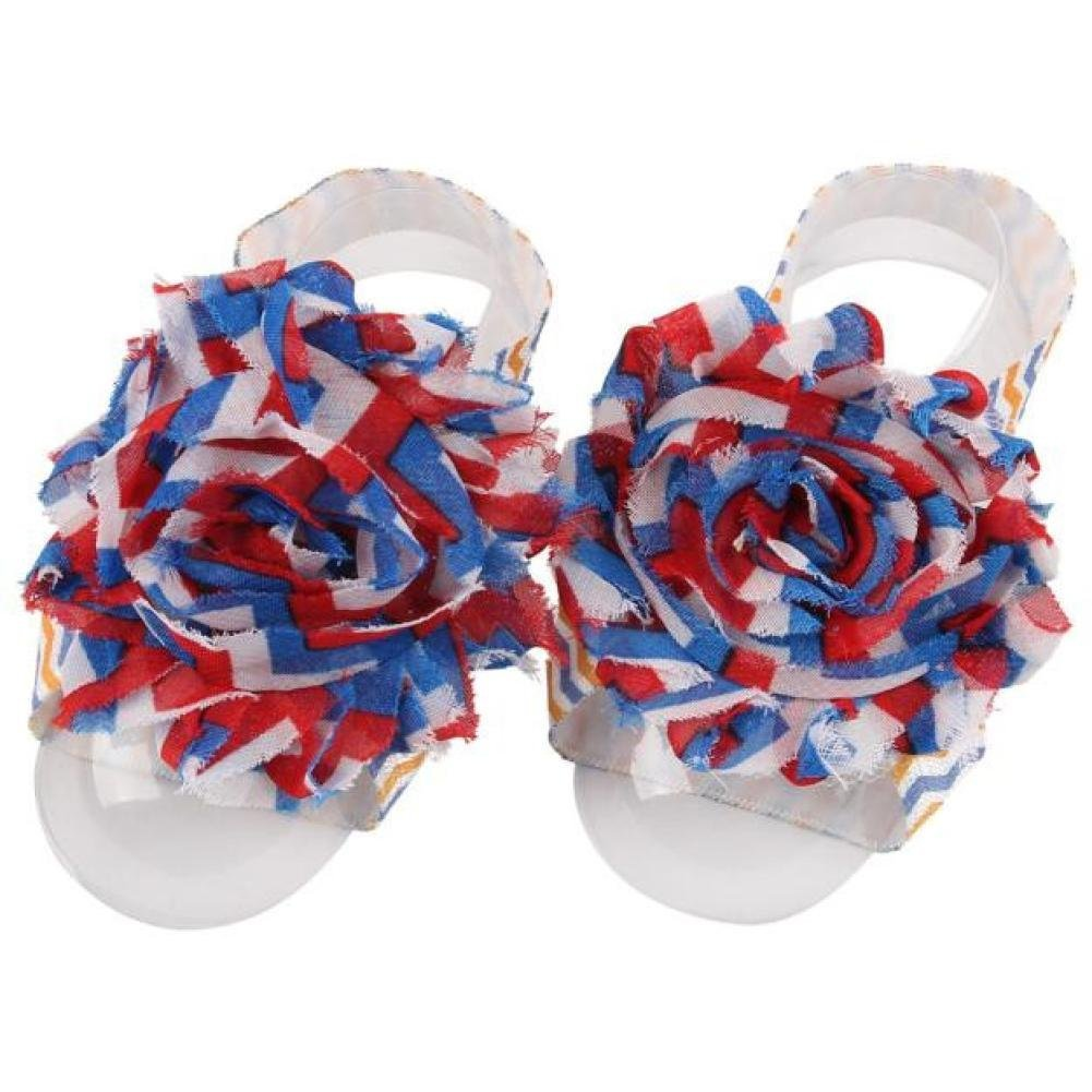 Voberry Baby Feet Accessories Chiffon Foot Flower Barefoots Sandals