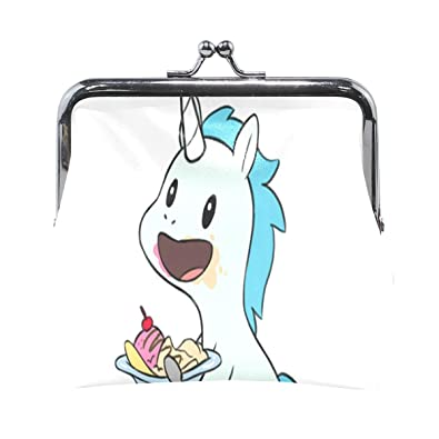 Amazon.com: Monedero de unicornio para comer, helado, para ...