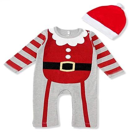 FangYOU1314 Disfraz de Bebe Santa Claus Just Love Christmas Overall ...