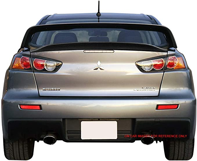 2009 Pre-painted Trunk Spoiler Compatible With 2008-2017 Mitsubishi Lancer EVO X 10 Painted Apex Silver # A31 ABS Rear Spoiler Tail Lip Deck Boot Wing Other Color Available by IKON MOTORSPORTS
