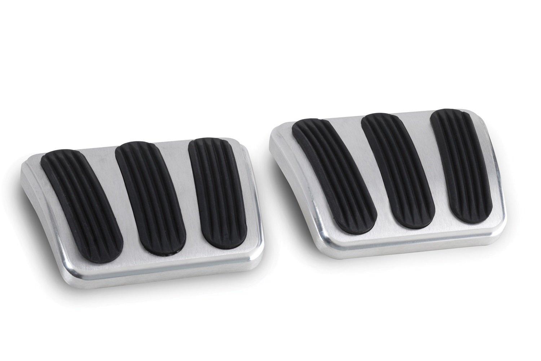 Lokar BAG-6132 Billet Aluminum Curved Brake/Clutch Pad with Rubber Insert - Pair