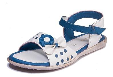 Girls Blue Casual Flat Sandal at Amazon