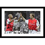 Thierry Henry & Dennis Bergkamp - Arsenal Autographed Signed And Framed Poster Photo