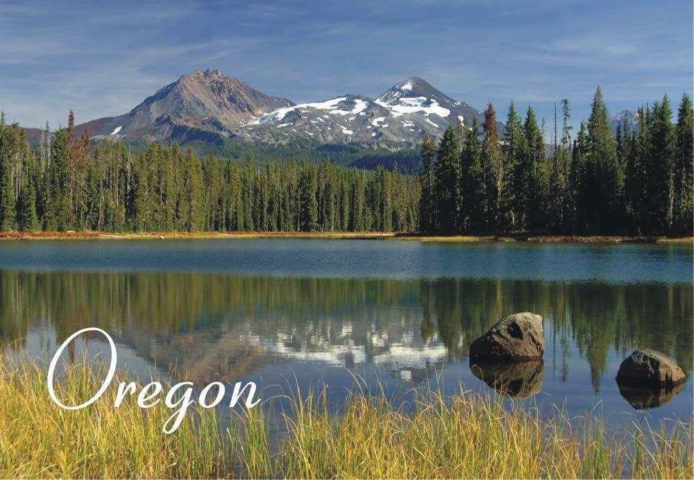 Scott Lake, Three Sisters Mountains, Oregon, OR, Travel, Souvenir, Refrigerator, Locker Magnet 2 x 3 Fridge Magnet