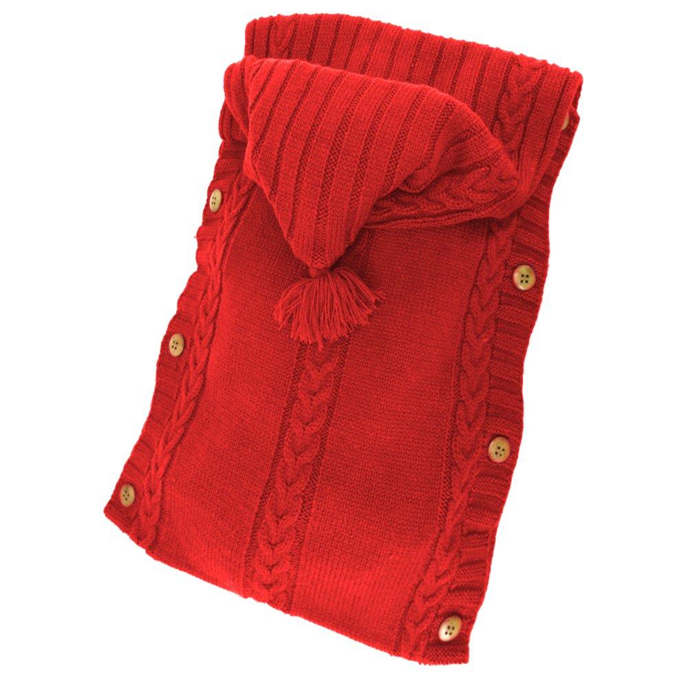 XMWEALTHY Newborn Baby Wrap Swaddle Blanket Knit Sleeping Bag Sleep Sack Stroller Wrap for Baby 0-6 Month Beige
