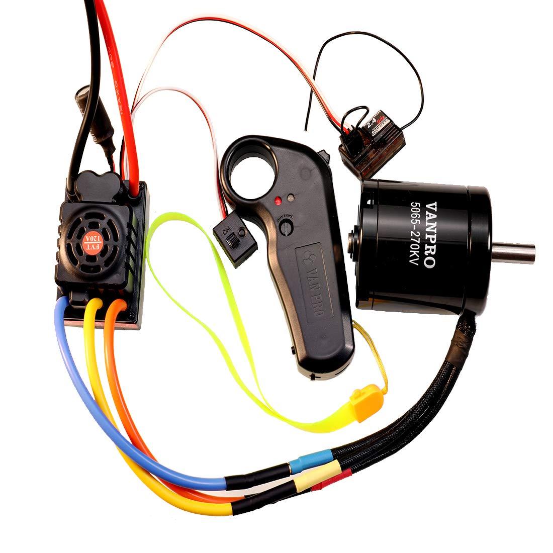 Amazon.com: vanpro - Monopatín eléctrico DIY V2 Edition 2.4G ...
