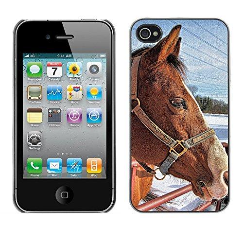 Premio Sottile Slim Cassa Custodia Case Cover Shell // F00030541 bride de cheval // Apple iPhone 4 4S 4G