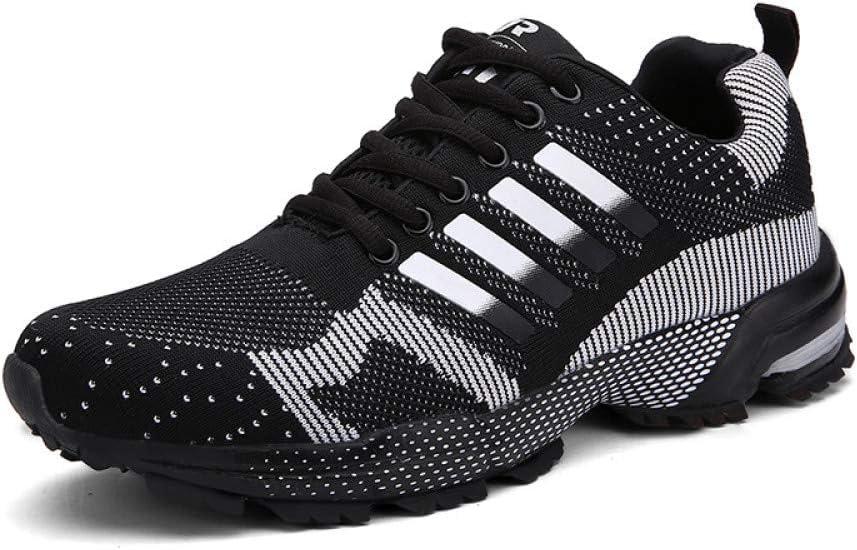 Tallas grandes 46 Tenis antideslizantes Zapatillas de deporte de los hombres Zapatos ocasionales del diseñador de los hombres Zapatos transpirables masculinos Zapatos de la pareja unisex,Negro,9: Amazon.es: Deportes y aire libre