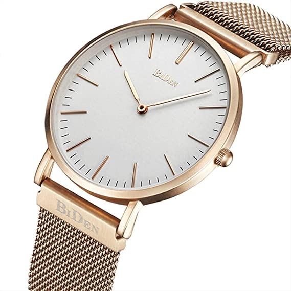 ee257d331849 Watch,Mens Women Watch Luxury Fashion Rose Gold Super Thin Case Waterproof  Analog Quartz Magnetic