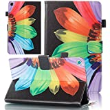Kindle Fire HD 8 Case, Sanhezhong Premium Leather Slim Lightweight Flip Folio Inner Magnetic Stand Cover for Kindle Fire HD 8 Tablet (2017/2016) (Black)