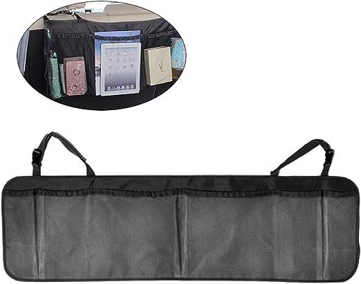 Rückenlehnenschutz Multi Tasche Kofferraumtasche Auto Hängende Aufbewahrungstasche Organizer Schwarz Auto
