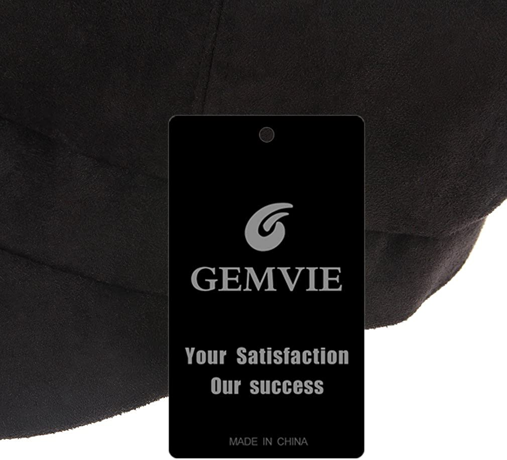 GEMVIE Newsboy Cap for Women 8 Panel Ivy Cabbie Beret Visor Brim Hat with Elastic Back