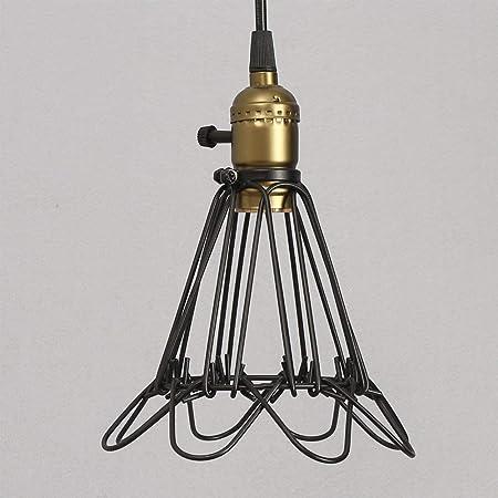 RUXMF- Araña de Metal Jaula, Vintage Industrial Metal E27 Edison ...