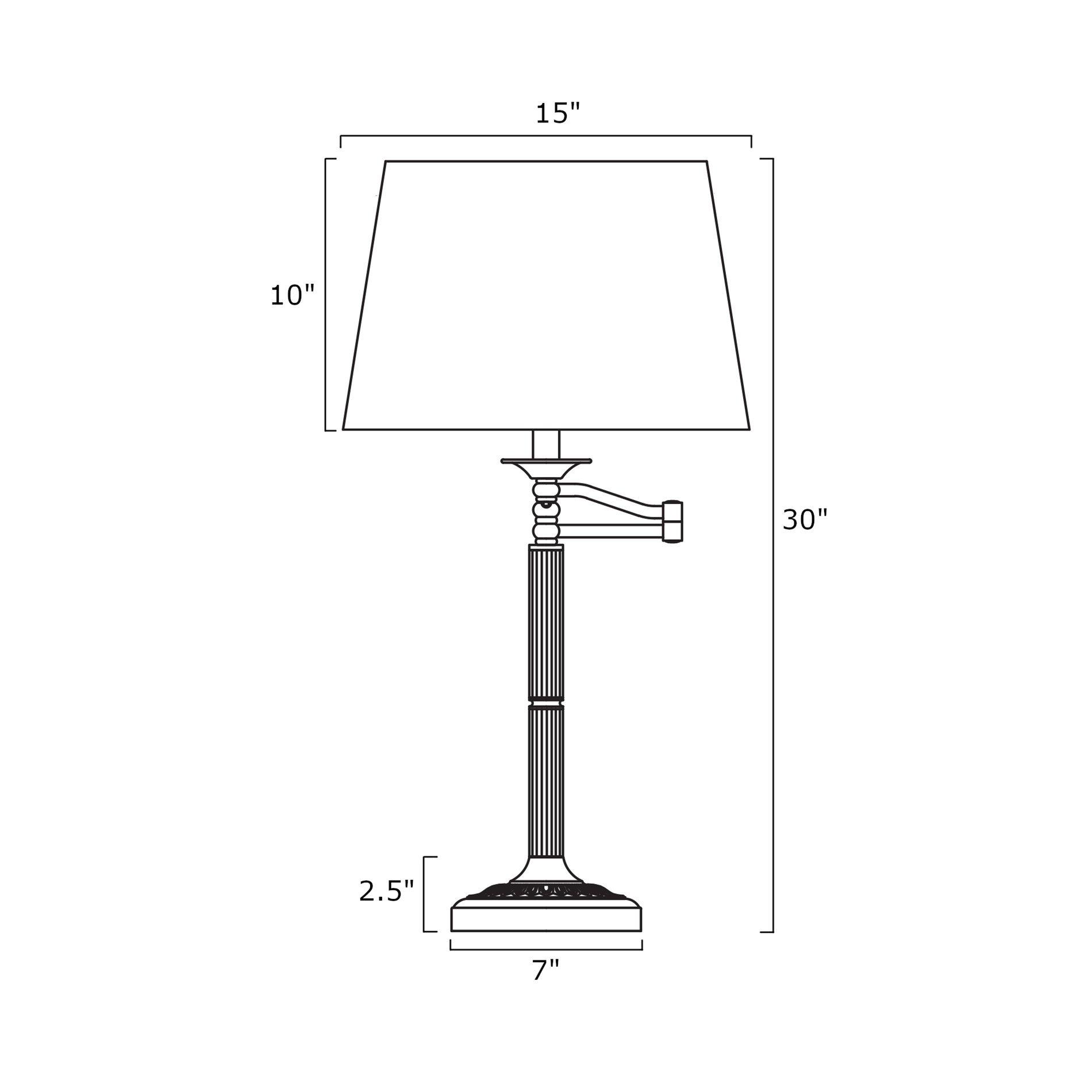 Revel/Kira Home Fremont 30'' Swing Arm Table Lamp + Light Gray Shade, Matte Black Finish by Kira Home (Image #3)
