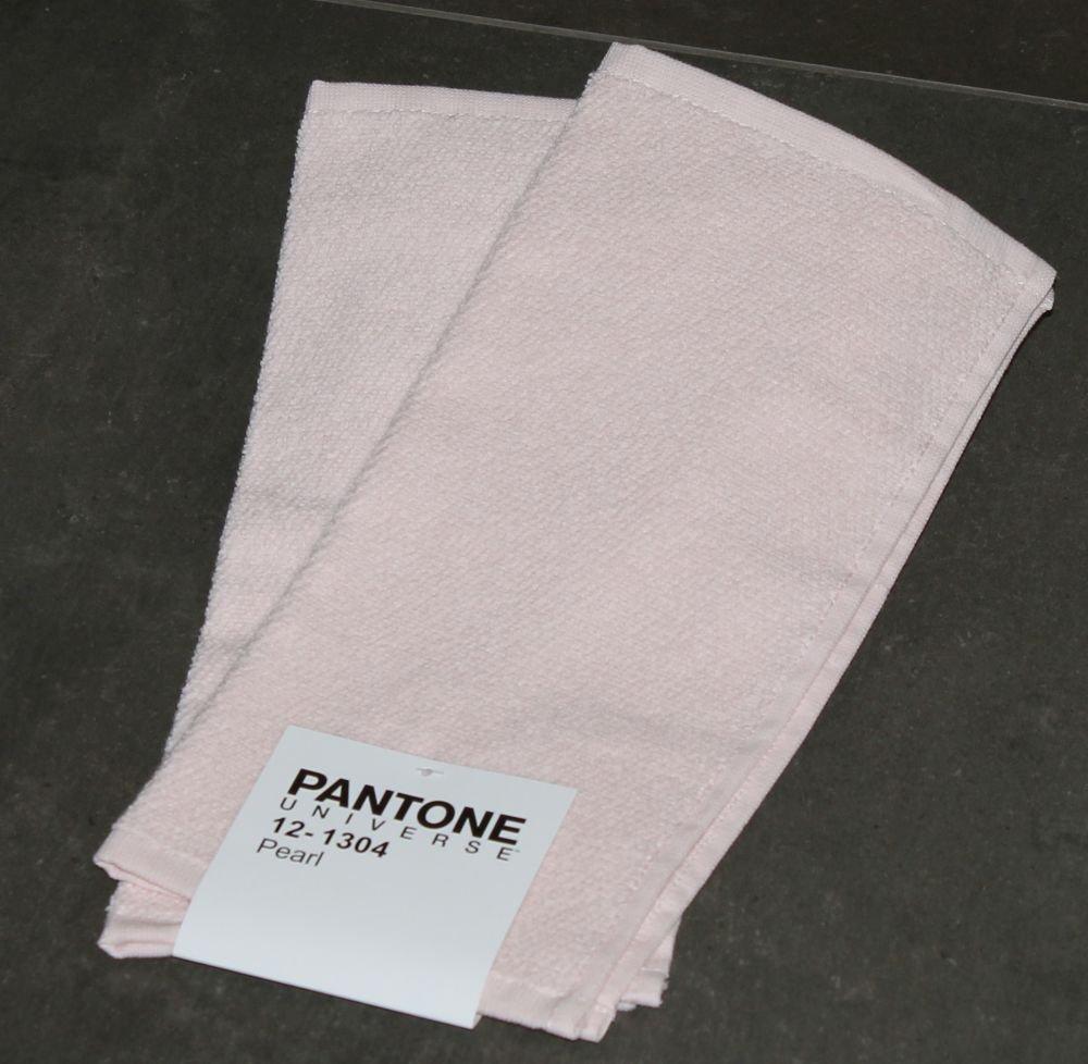 SET 2 LAVETTE PANTONE by BASSETTI 12 - 1304 PEARL ROSA CHIARO TINTA UNITA CM 30 x 30 100% SPUGNA DI PURO COTONE