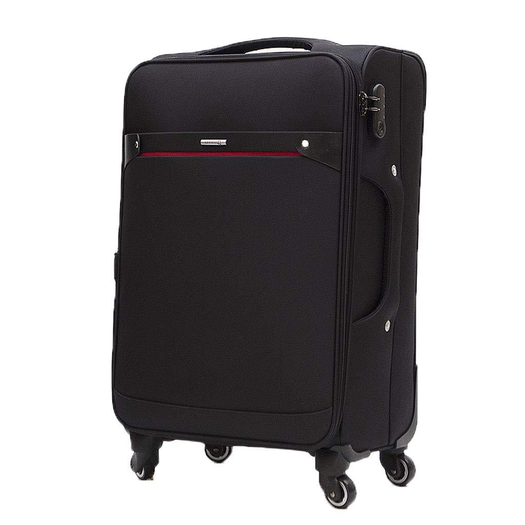 Mesurn JP ビジネススーツケース、オックスフォード素材、合金タイロッド、強力な耐摩耗性防水、安全コードロック、万能ホイール荷物トロリーケース B07P3K9SLJ Black 24 inch