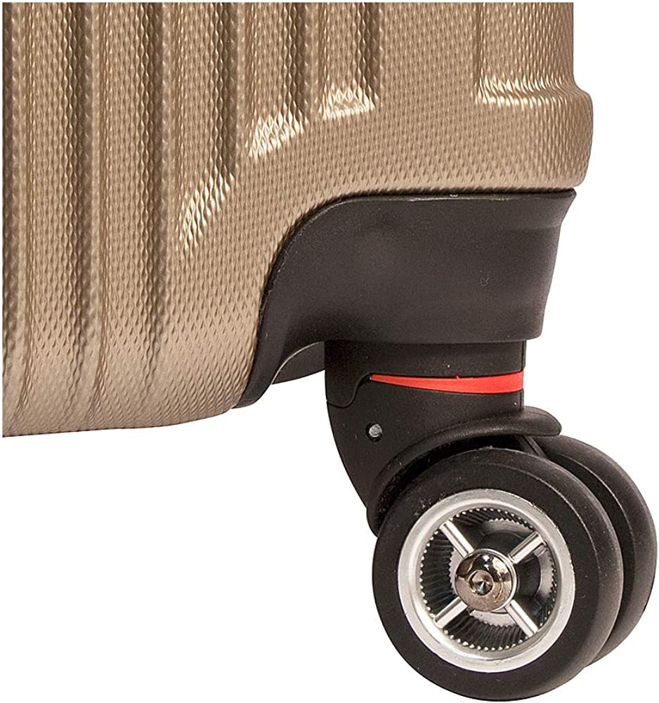 20 + Mancini Leather Goods Santa Barbara 2 Piece Expandable Spinner Luggage Set