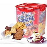 马来西亚进口马奇新新什锦饼干零食礼盒700G礼包桶夹心饼干威化 (积宝)