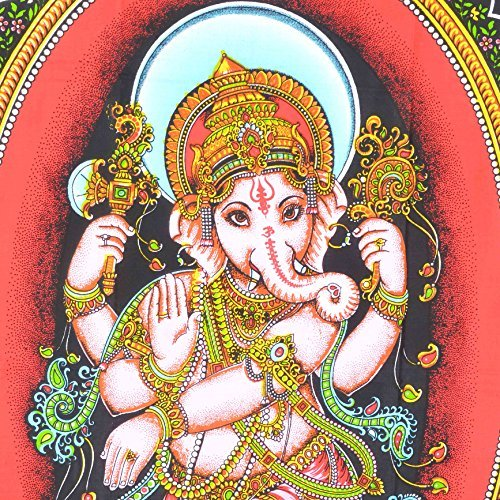 Bless 'Lord Ganesha' Cotton Tapestry 91.44 X 121.92 Cm