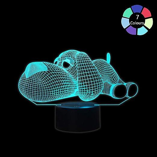Coolzon 3D Lampe Illusion Optique LED Veilleuse pour Bébé