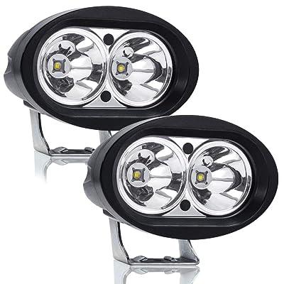 """Led ATV UTV Motorcycle Fog Lights, Ourbest Forklift Warning Lights Warehouse Safety Lights Spot Light Work Light Cree 20W LED 4"""" Driving Off Road Lights Pods: Automotive"""
